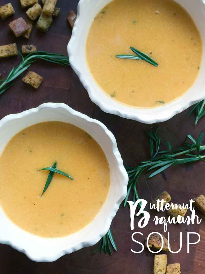 simple, easy, and decadent butternut squash soup recipe. Easy to make for even the beginning cook!