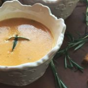 simple, easy, and decadent butternut squash soup. Easy to make for even the beginning cook!