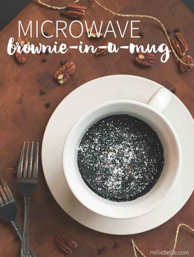 Microwave 3 minute brownies in a mug are easy and fast! Perfect treat for one person.