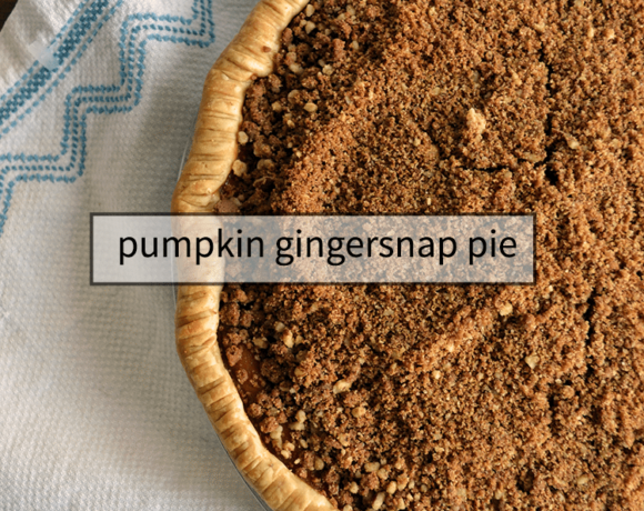 pumpkin pie with gingersnap and pecan crumble is easy to make and a lovely fall pie! #recipes #pie #gingersnap #pumpkin