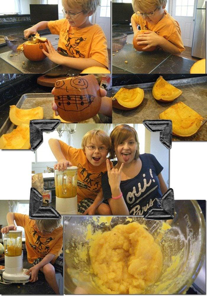 making homemade pumpkin pie