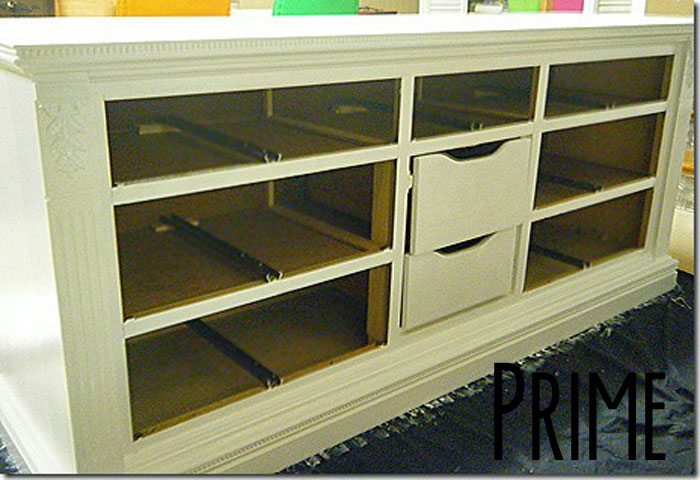 turn a dresser into a t.v. cabinet