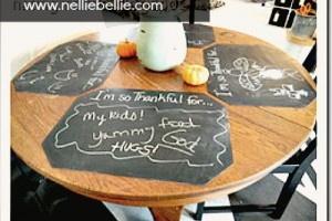 reversible chalkboard placemats made from $1 placemats