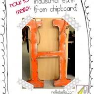 DIY vintage sign letter