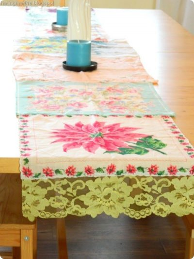 how to make a runner from hankies