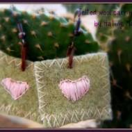 repurpose wool sweaters into earrings