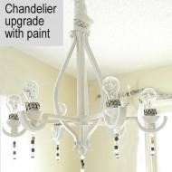Chandelier Update:  Builder grade to Beautiful Chandelier for $21.50!