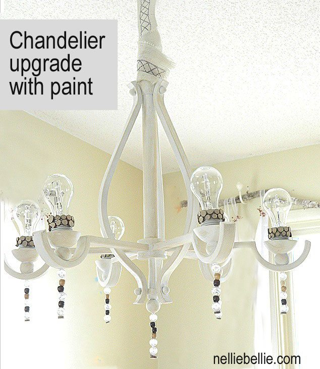 Chandelier Update:  Builder grade to Beautiful Chandelier for $21.50!