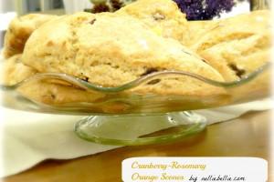 cranberry rosemary orange scones...a wonderful combo!