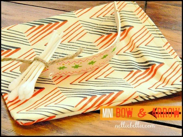 mini bow and arrow by nelliebellie. a tutorial for this fun little toy!