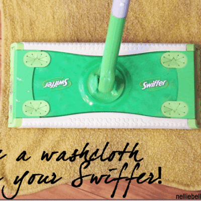 repurpose washcloths for Swiffer pads
