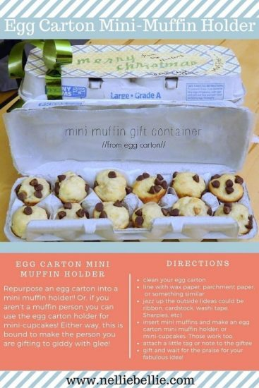 how to turn an egg carton into a mini-muffin holder.
