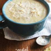Roasted Cauliflower soup is easy to make and so delicious! #souprecipe #cauliflowersoup