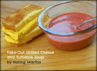 Fake-out grilled cheese and tomato-e soup!