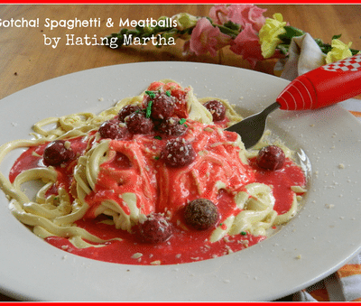 "Quick & Easy ""gotcha"" Spaghetti & Meatballs"