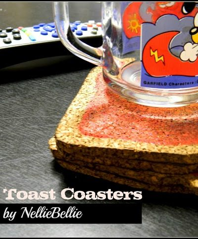 How to make coasters that look like toast