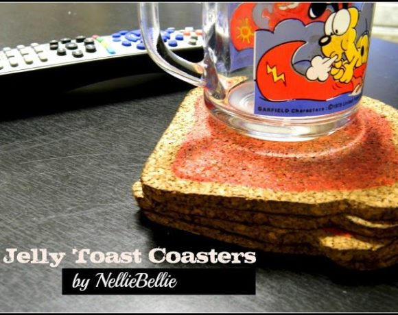 jelly toast coasters. tutorial. by nelliebellie.com