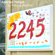 Anthropologie Inspired House Number Plaque