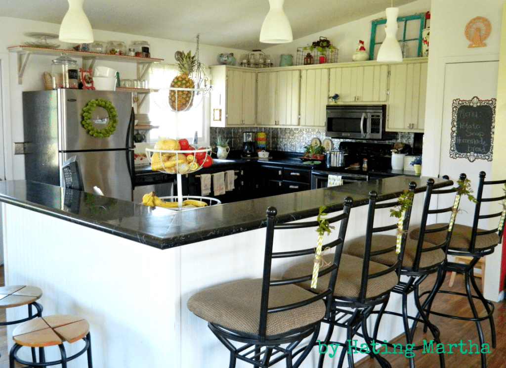 the full, complete kitchen
