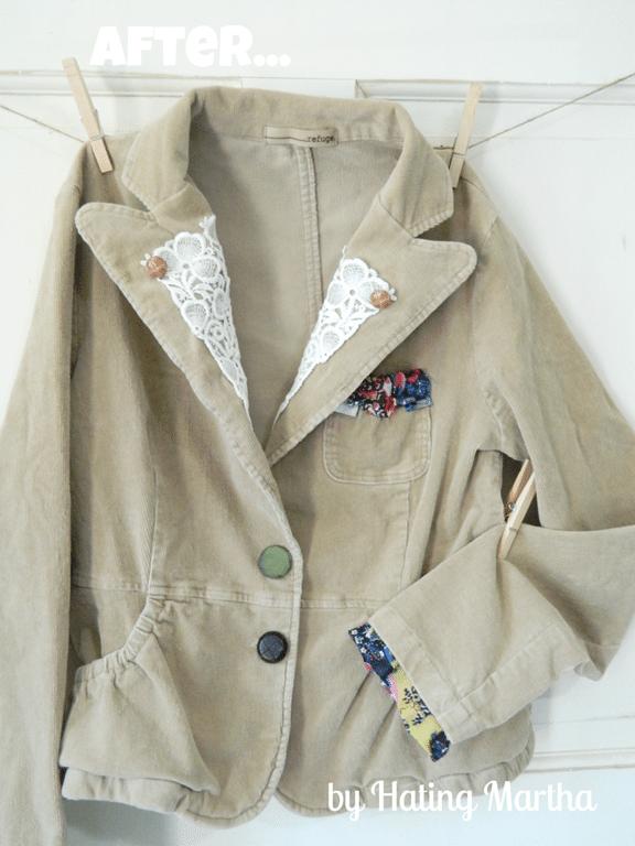 refashion a blazer