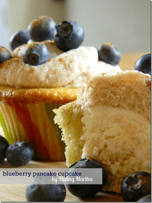 blueberry pancake cupcakes.