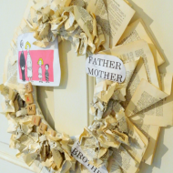 tutorial-Book Page Wreath AND Cupcake Liner Wreath