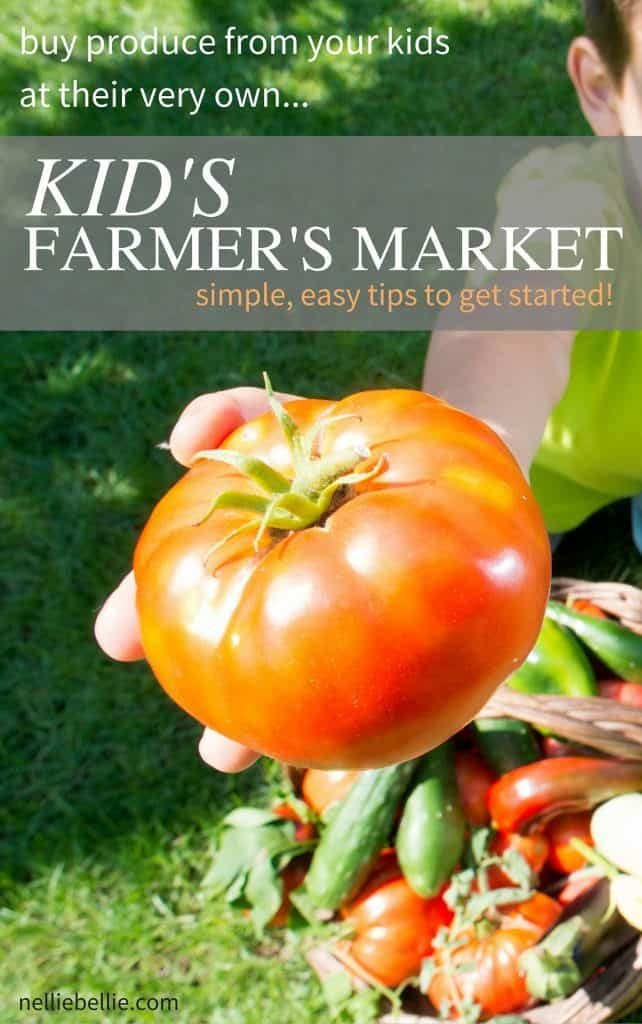 Let your kid's grow and sell at their own Farmer's Market! A great way to get kids excited about gardening and supply your kitchen with fresh produce.