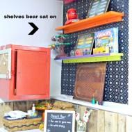 Paint Week…my bear butt shelves revealed