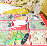 repurpose end-table: kids specimen table