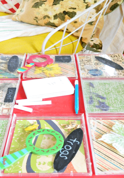 repurpose end-table: kids specimen table
