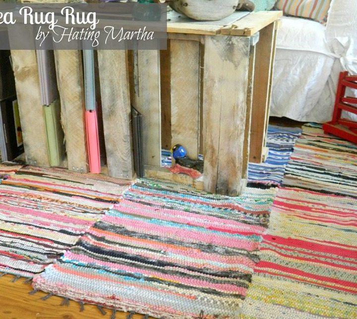 DIY area rug.