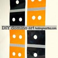 DIY domino art