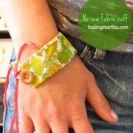 repurpose fabric scrap: cuff bracelet