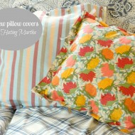 No-Sew, No-glue, No-fuss pillow covers!