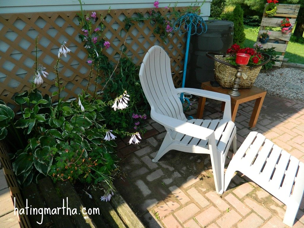 My back brick patio…