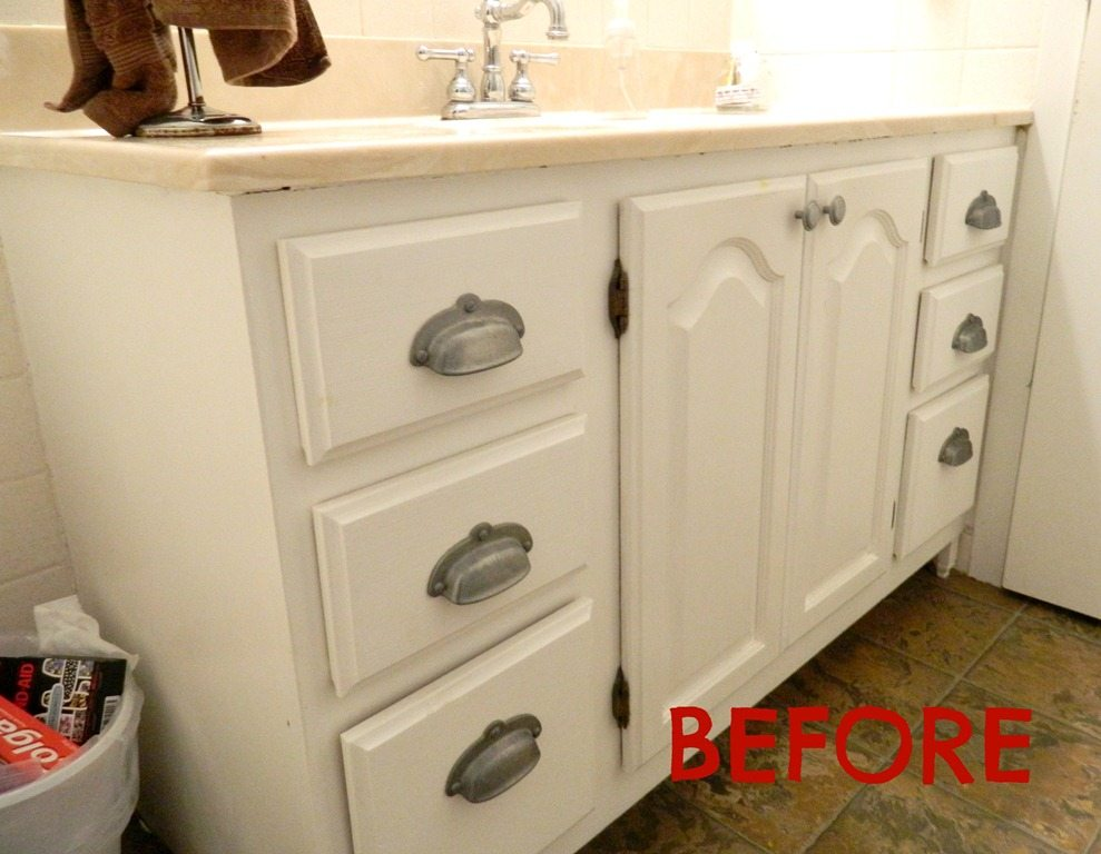 updating bathroom cabinets painting a sink an easy tutorial 27728