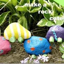 how to make a garden rock caterpillar. nelliebellie.com