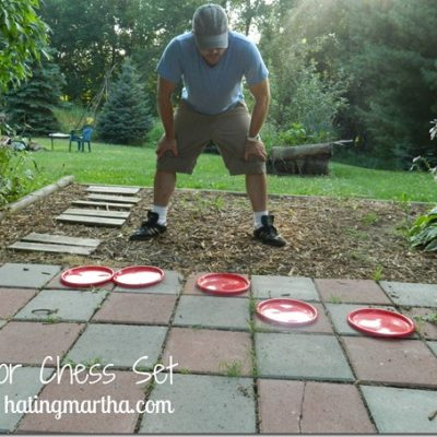 How to make an outdoor chess set