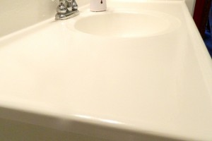 Painting a sink can make a huge improvement in your bathroom for very little expense.