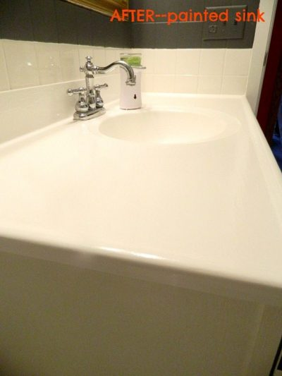 How to update the sink and vanity with paint.