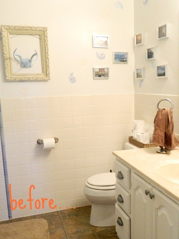 painting bathroom tile casual cottage