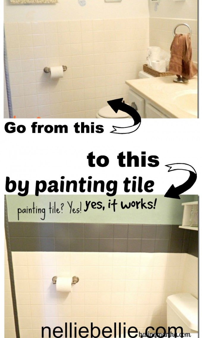 painting tile, a tutorial from nelliebellie