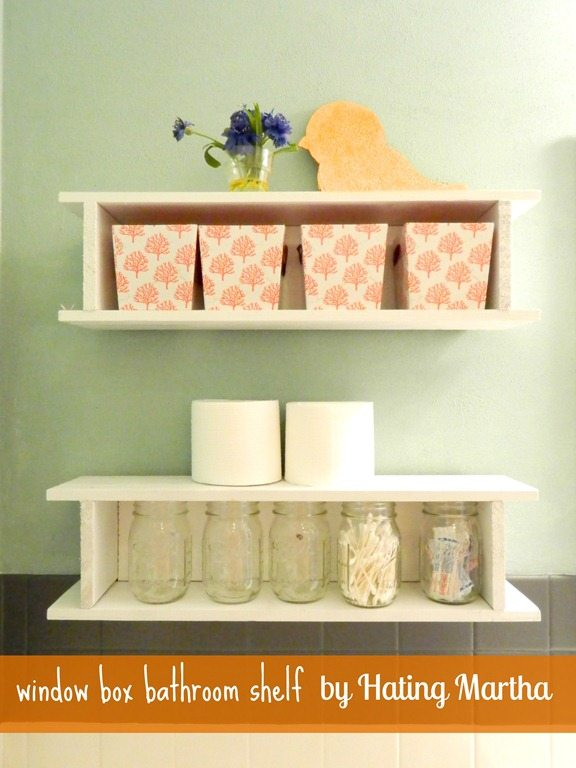 bathroom box nelliebellie take simple builder grade window boxes and use them as bathroom storage