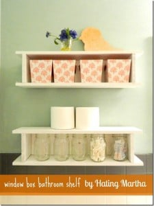 NellieBellie: take simple builder grade window boxes and use them as bathroom storage!