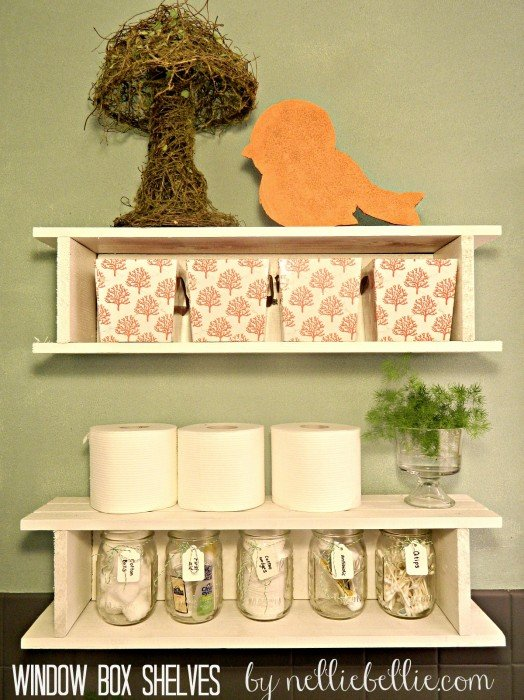 turn windowboxes into shelves! NellieBellie.com
