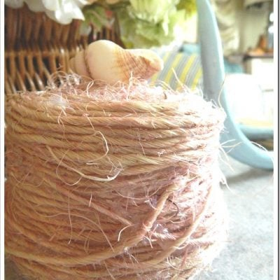 DIY dyed jute basket.
