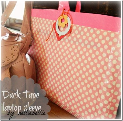 DIY Duck Tape laptop sleeve, Duct Tape laptop sleeve,