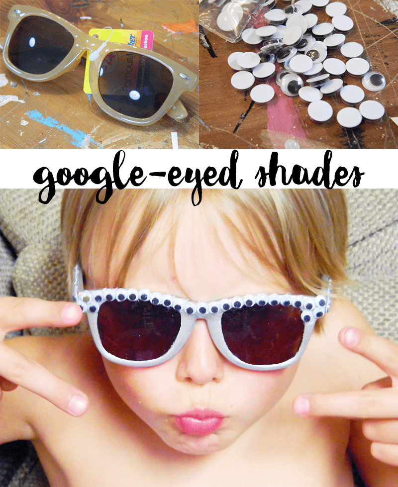 These shades are a fun dollar store craft for the kids to make!