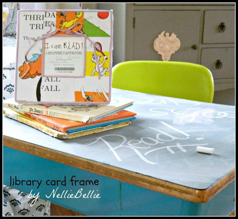 A first library card is a special memento! Here is a sweet way to make that first library card into a keepsake with a library card frame