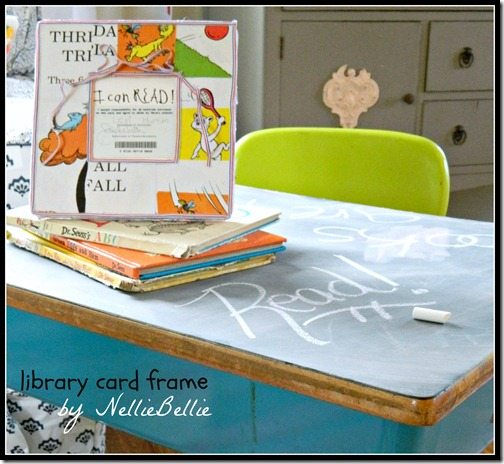 Library Card frame to honor new readers